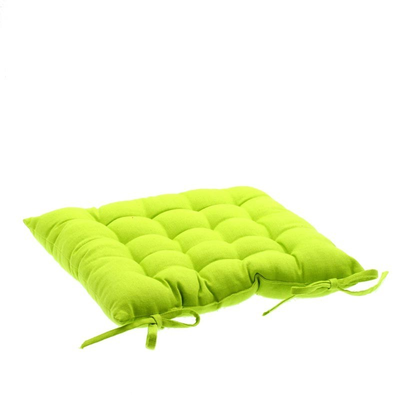 coussin de chaise 38x38 vert anis. Black Bedroom Furniture Sets. Home Design Ideas