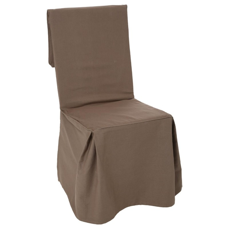 Housse de chaise taupe conceptions de maison for Housse de chaise taupe