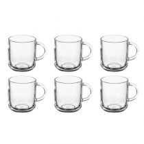 "Lot de 6 Mugs en Verre ""Droit"" 24,5cl Transparent"