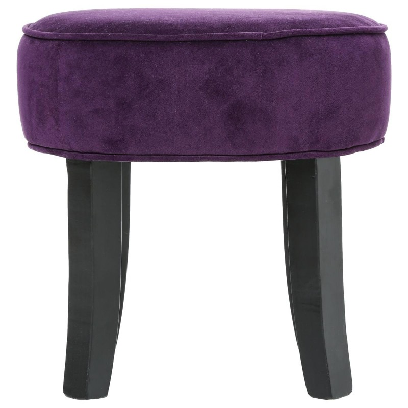tabouret adriel velours violet. Black Bedroom Furniture Sets. Home Design Ideas