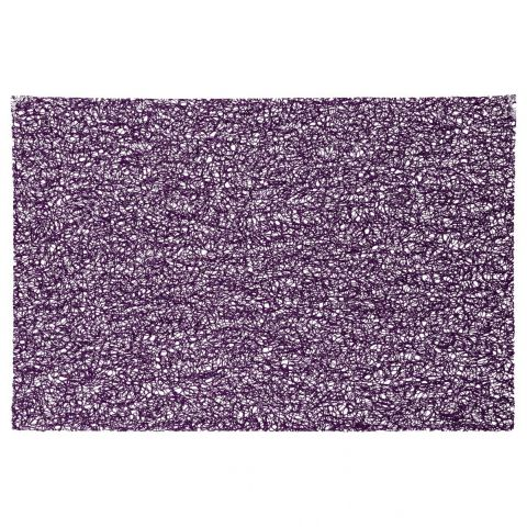 "Set de Table Rectangulaire ""Spaghetti"" 30x45cm Violet"