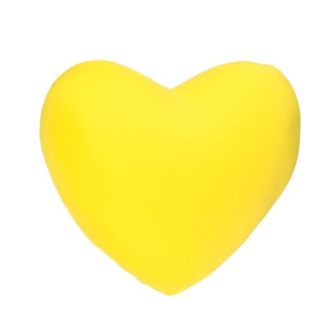 Coussin Coeur Microbilles Jaune