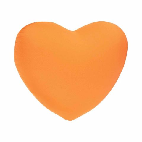 Coussin Coeur Microbilles Orange