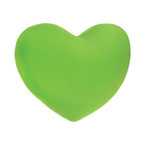 Coussin Coeur Microbilles Vert