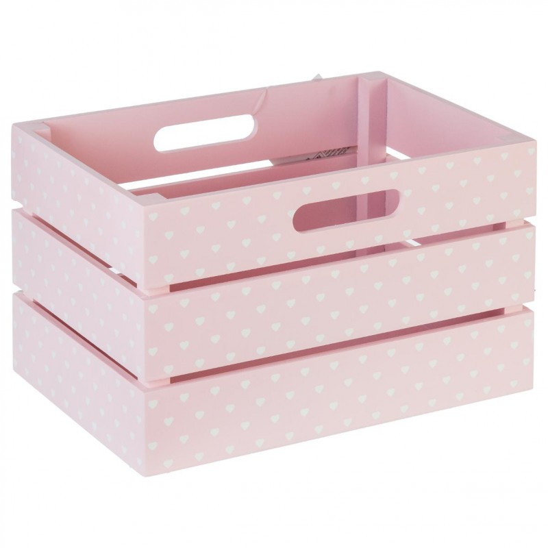 cagette rangement enfant 29x20cm rose. Black Bedroom Furniture Sets. Home Design Ideas