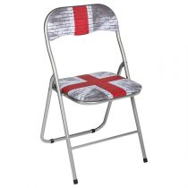 "Chaise Pliante ""London Ground"" 80cm Rouge & Gris"