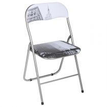 "Chaise Pliante ""City"" 80cm Gris"