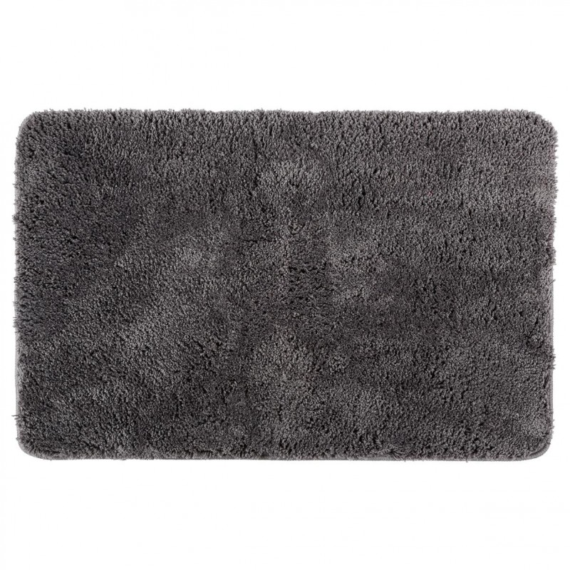 tapis microfibre salle de bain 60x90cm gris. Black Bedroom Furniture Sets. Home Design Ideas