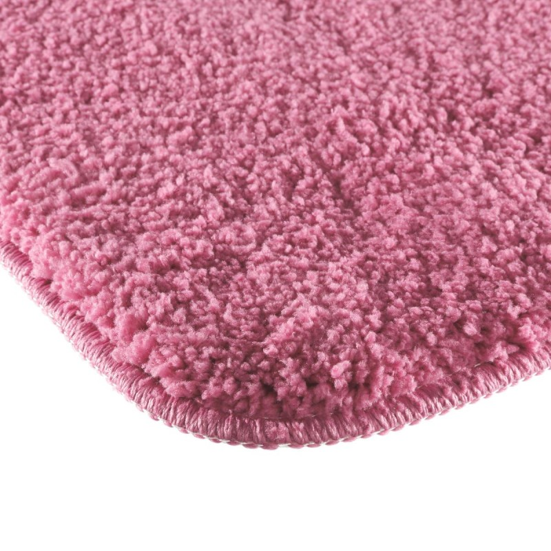 tapis microfibre salle de bain 60x90cm rose. Black Bedroom Furniture Sets. Home Design Ideas