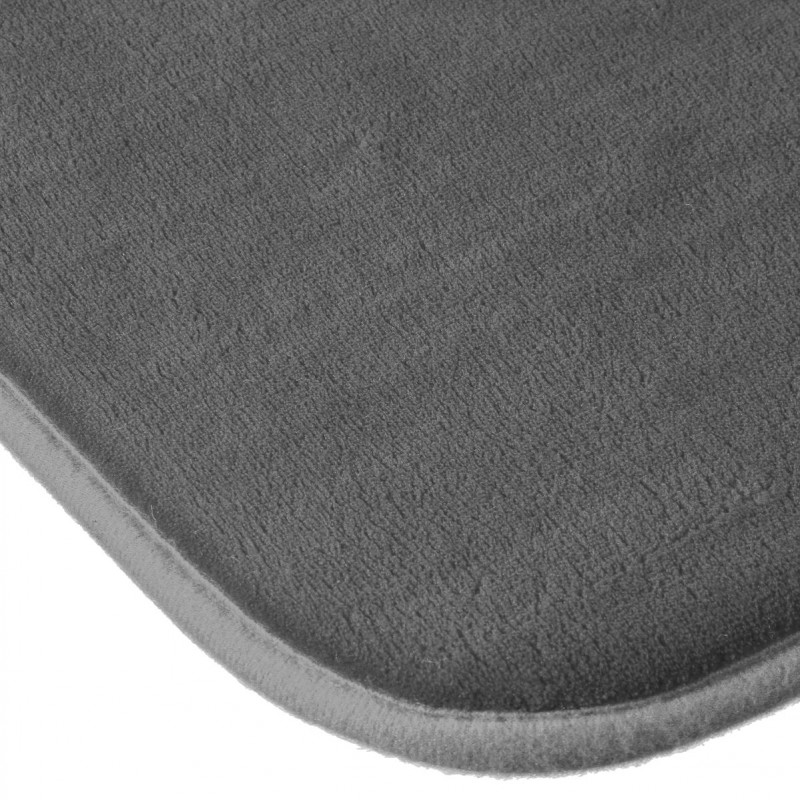 tapis salle de bain m moire de forme 80x50cm gris. Black Bedroom Furniture Sets. Home Design Ideas
