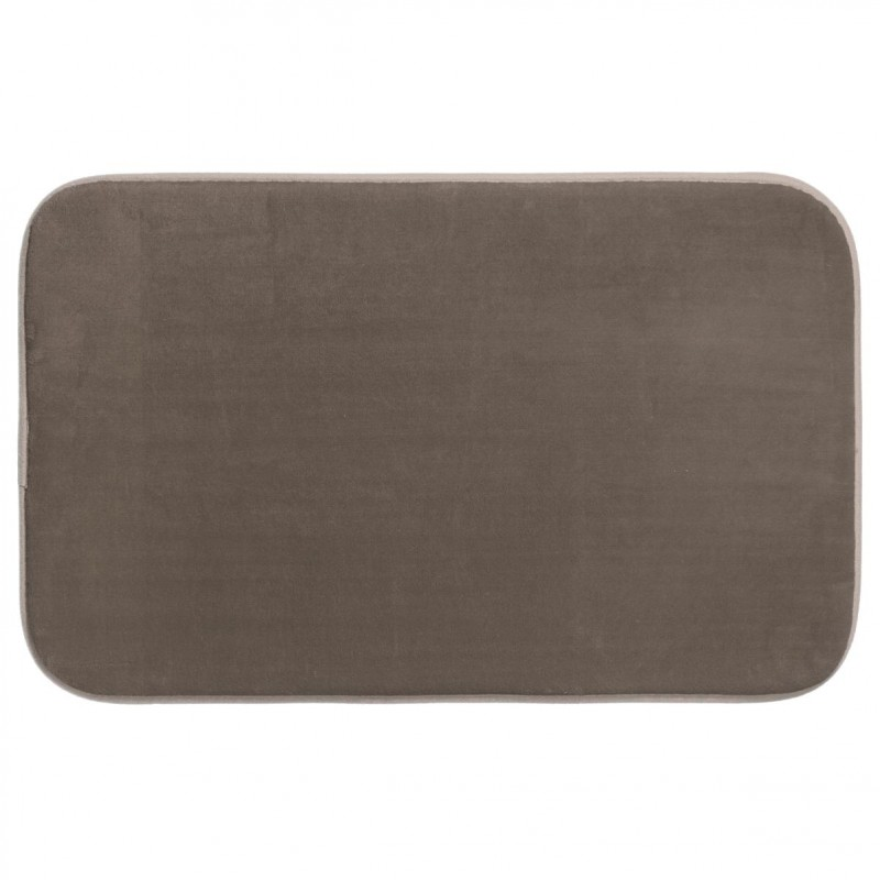 tapis salle de bain m moire de forme 80x50cm taupe. Black Bedroom Furniture Sets. Home Design Ideas