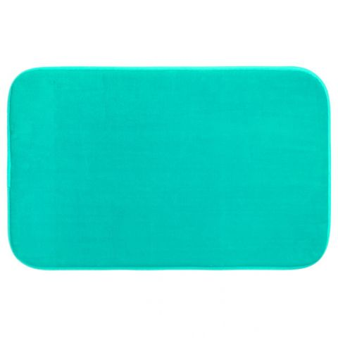 tapis salle de bain m moire de forme 80x50cm turquoise. Black Bedroom Furniture Sets. Home Design Ideas