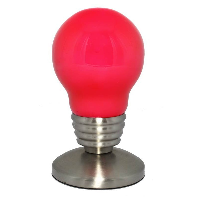 Lampe ampoule so city rose for Lampe a poser rose
