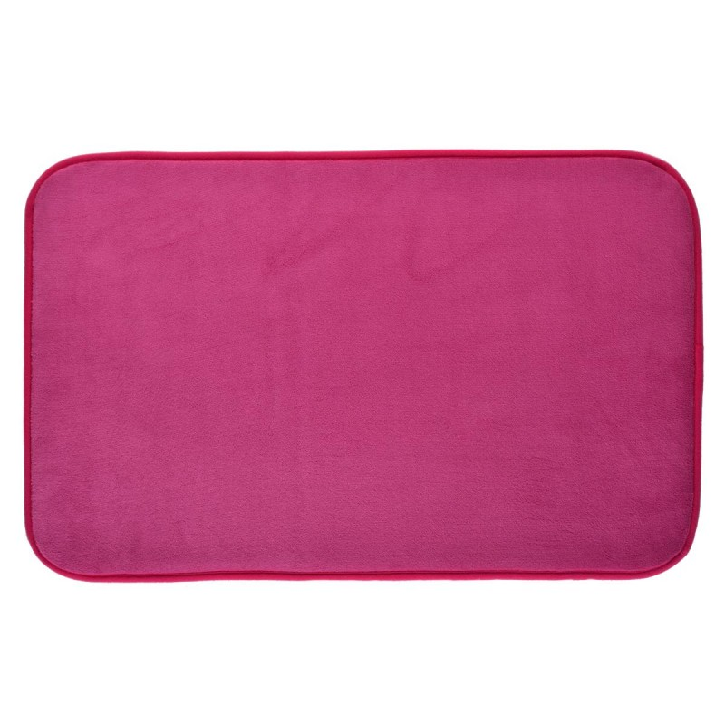 tapis salle de bain m moire de forme 80x50cm fuchsia. Black Bedroom Furniture Sets. Home Design Ideas