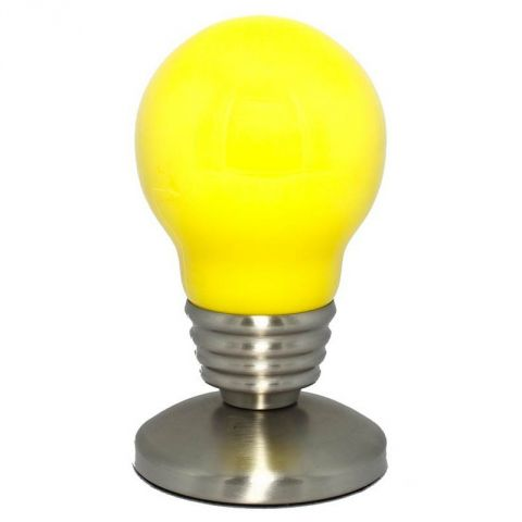 "Lampe Ampoule ""So city"" Jaune"
