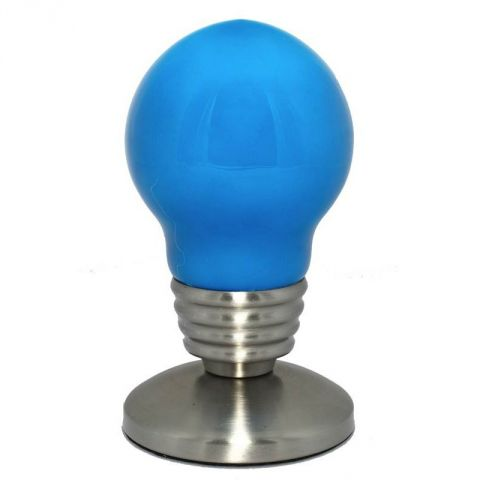 "Lampe Ampoule ""So city"" Bleu"