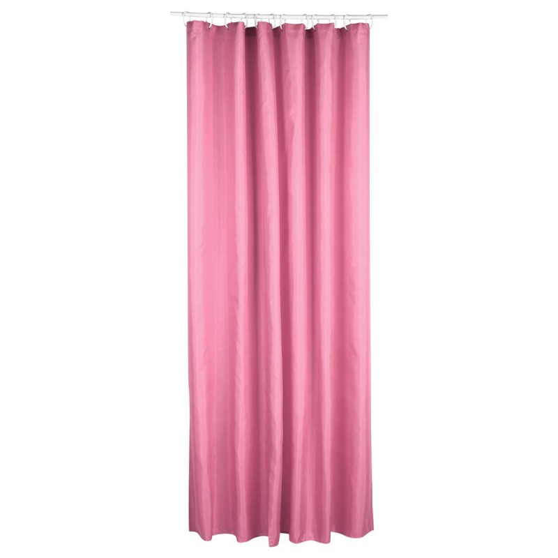 rideau de douche polyester 180x200cm rose. Black Bedroom Furniture Sets. Home Design Ideas