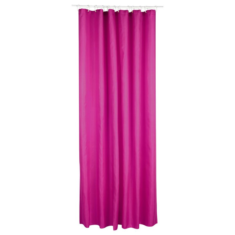 rideau de douche polyester 180x200cm fushia. Black Bedroom Furniture Sets. Home Design Ideas