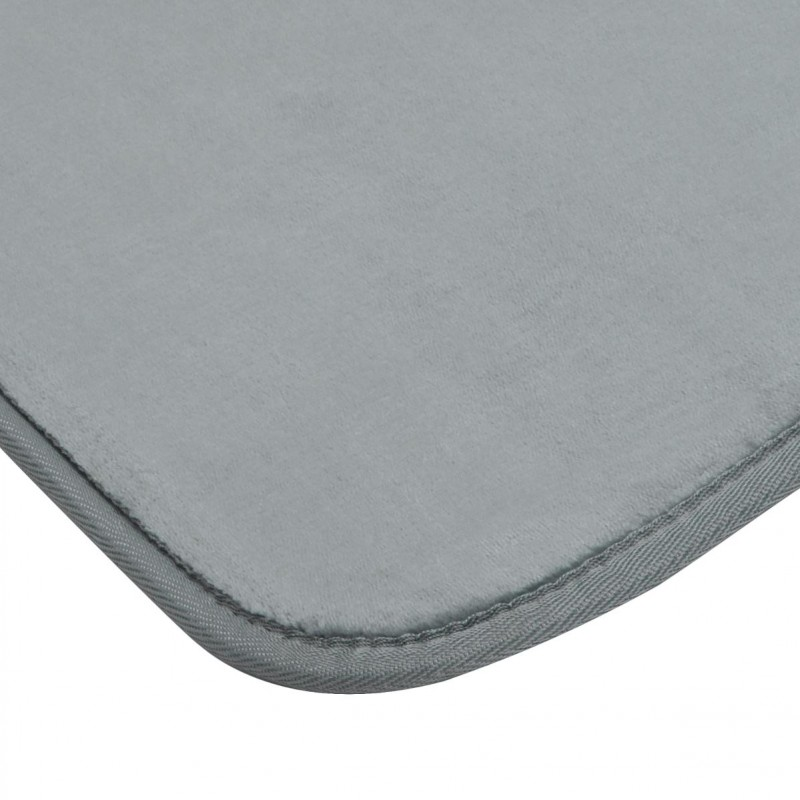tapis velours 50x80cm gris fonc. Black Bedroom Furniture Sets. Home Design Ideas