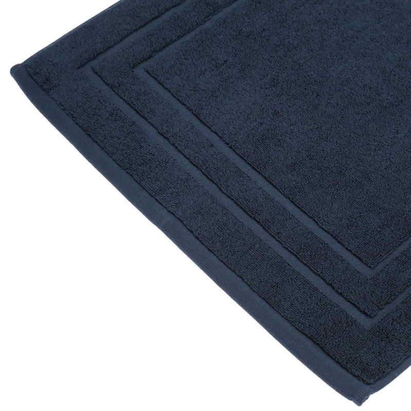 tapis de bain 700g m 70x50cm bleu marine. Black Bedroom Furniture Sets. Home Design Ideas