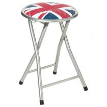 "Tabouret Pliant Métal ""British"" London"