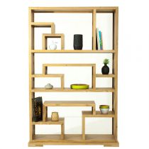 Etagère Design en Teck Naturel Beige