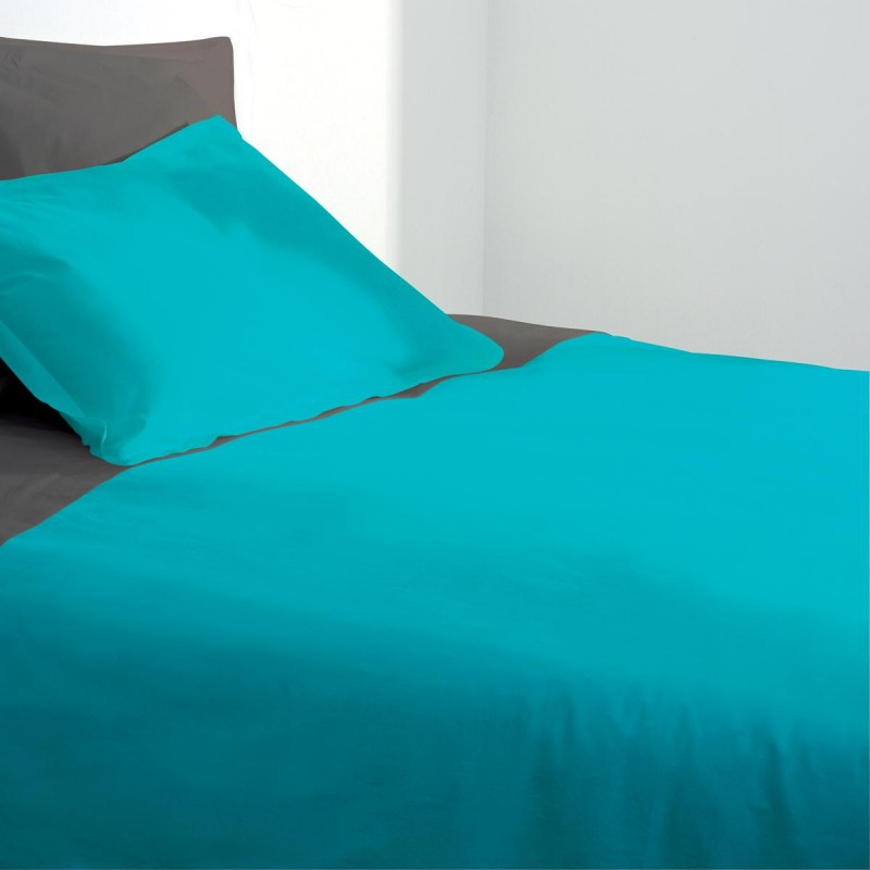 housse de couette 240x260cm turquoise. Black Bedroom Furniture Sets. Home Design Ideas