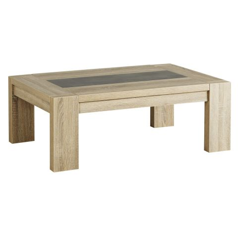 Table basse phoenix ch ne brut beige - Table basse laquee beige ...