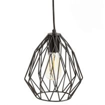 "Lampe Suspension Métal ""Hillaby"" 28cm Noir"