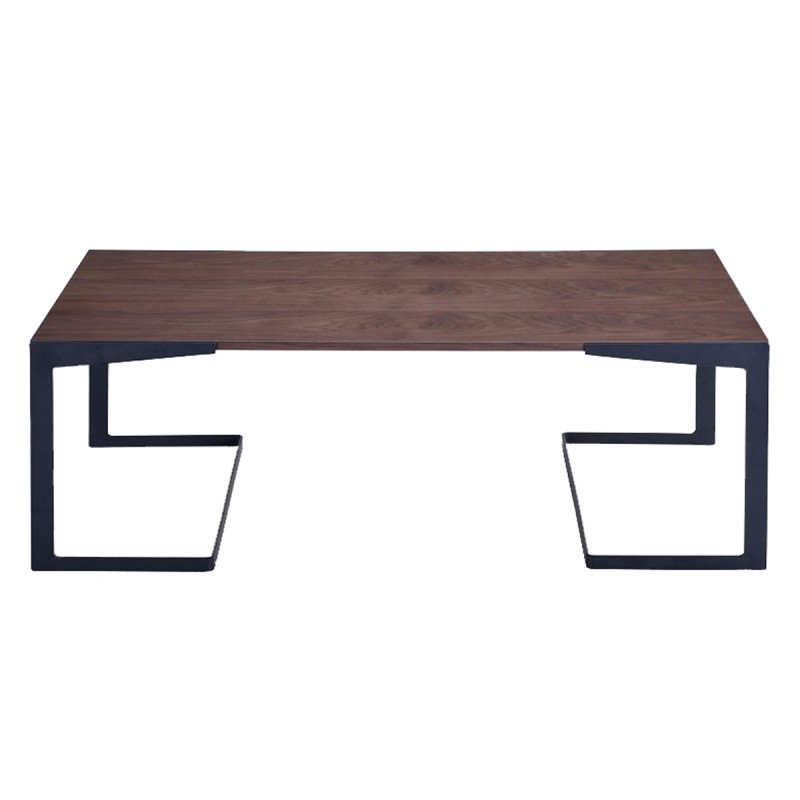 Table basse design fuzz 47cm noyer noir - Table basse noire design ...