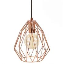 "Lampe Suspension Métal ""Hillaby"" 28cm Cuivre"
