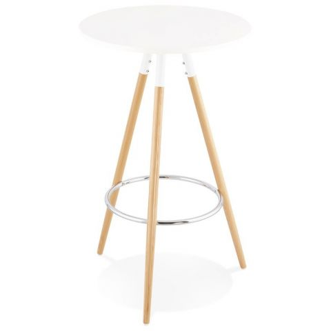 "Table de Bar ""Uzak"" 101cm Blanc"