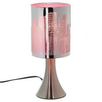 "Lampe à Poser ""Touch City"" Rose"