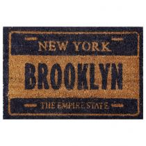 "Paillasson Coco ""Brooklyn"" 40x60cm Bleu"