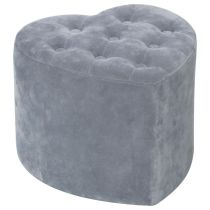 "Pouf Coeur ""Glam Chic"" Gris"