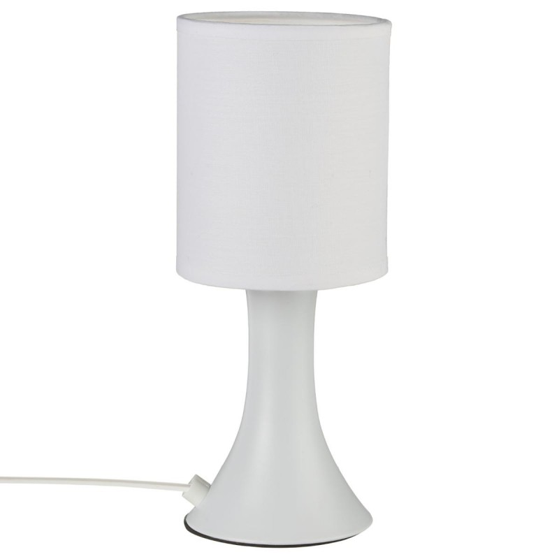 lampe tactile touch m tal 28cm blanc. Black Bedroom Furniture Sets. Home Design Ideas