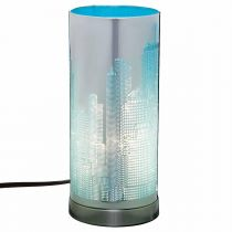 Lampe Cylindrique Touch NYC Bleu