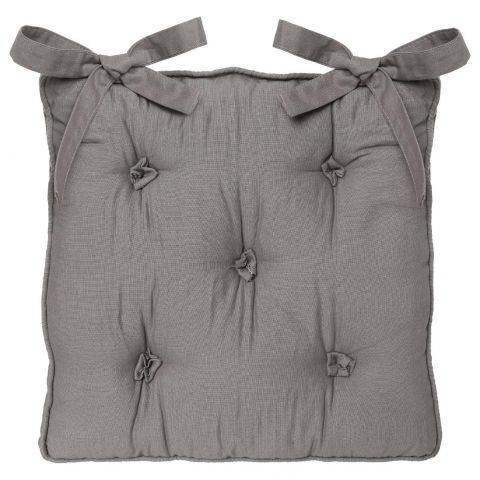 Coussin Chaise 5 Boutons Gris