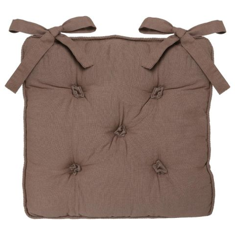 Coussin Chaise 5 Boutons Taupe