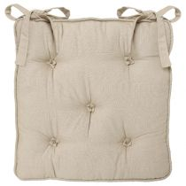 Coussin Chaise 5 Boutons Lin