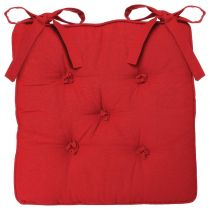 Coussin Chaise 5 Boutons Rouge