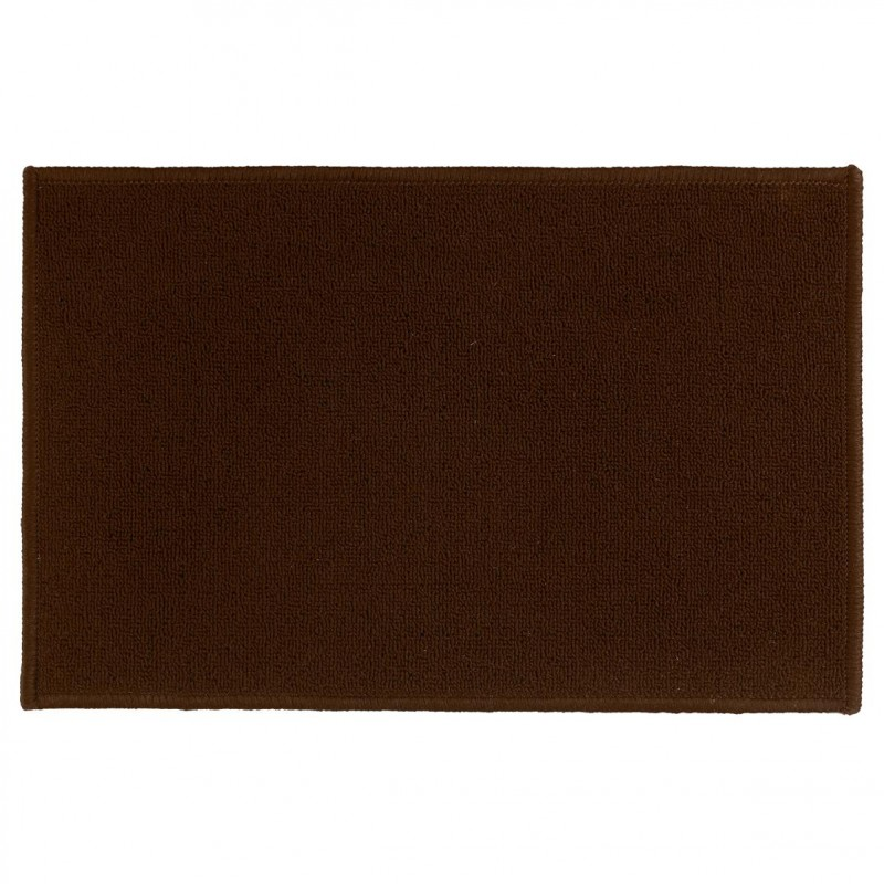 tapis uni anti d rapant chocolat 50x80cm. Black Bedroom Furniture Sets. Home Design Ideas