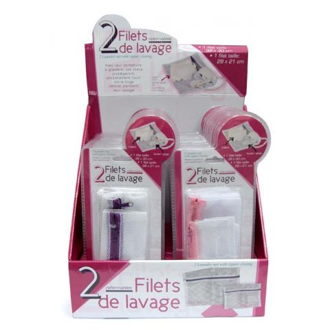 Lot de 2 Filets de Lavage Rouge