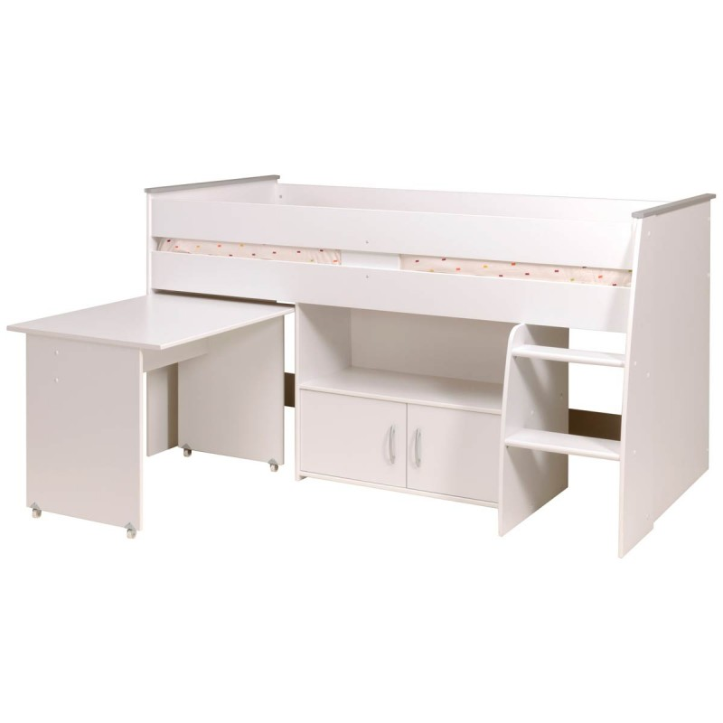 lit enfant combin lhasa blanc. Black Bedroom Furniture Sets. Home Design Ideas