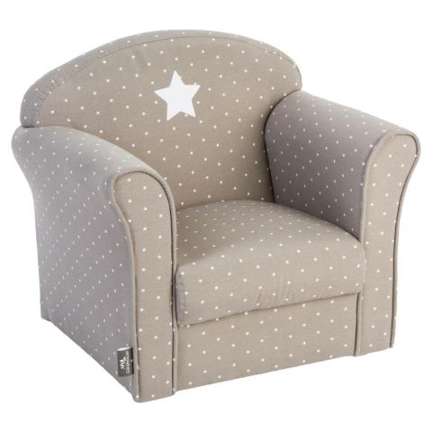"Fauteuil 44cm ""Etoile"" Taupe"