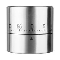 """Minuteur Inox """"Sylindr"""" Argent"""