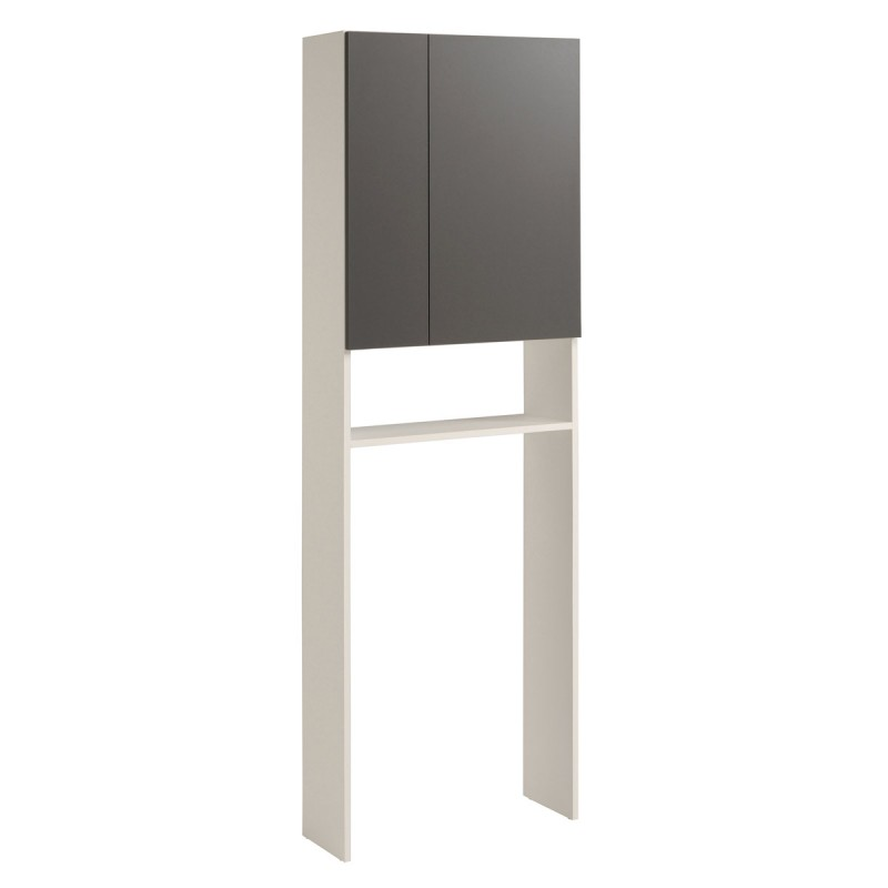 meuble entourage wc verzak 184cm gris. Black Bedroom Furniture Sets. Home Design Ideas