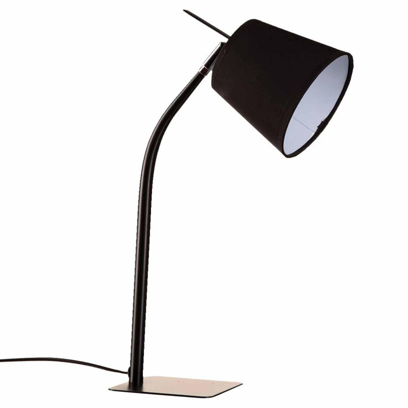 lampe m tal avec pied 50cm noir. Black Bedroom Furniture Sets. Home Design Ideas