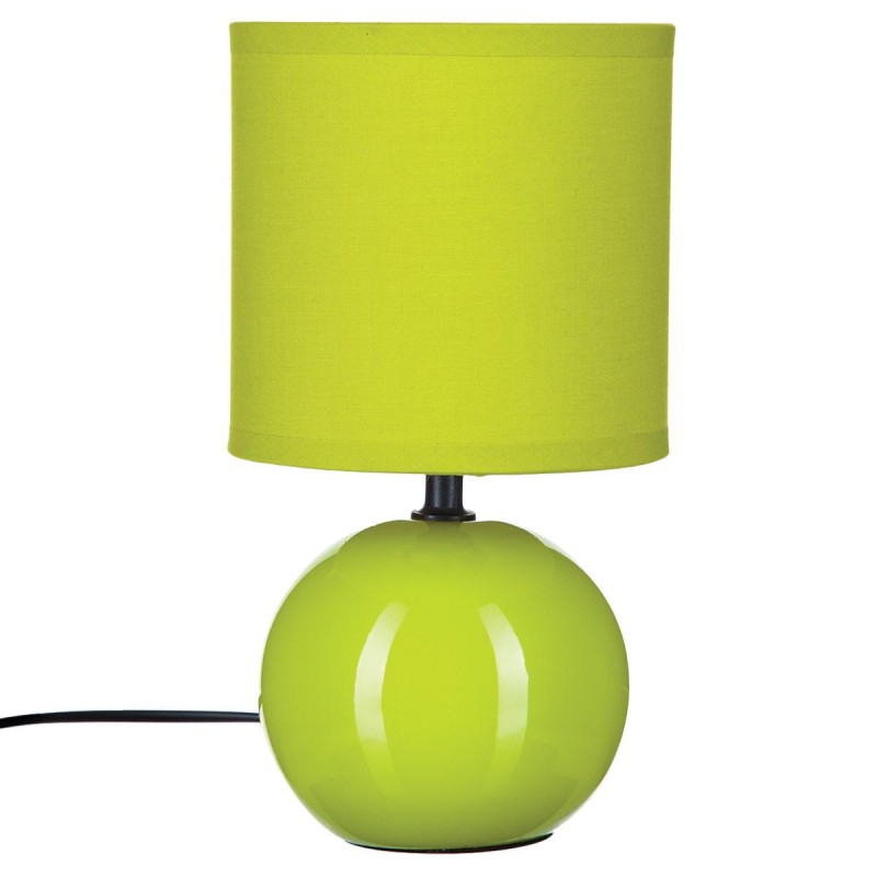 lampe poser c ramique boule 25cm anis. Black Bedroom Furniture Sets. Home Design Ideas