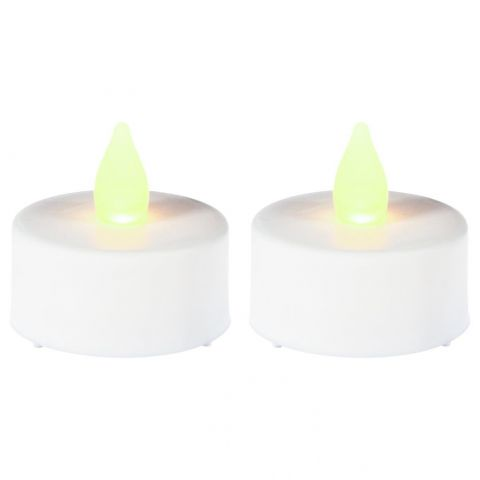 "Lot de 2 Bougies ""Led"" 4cm Blanc"